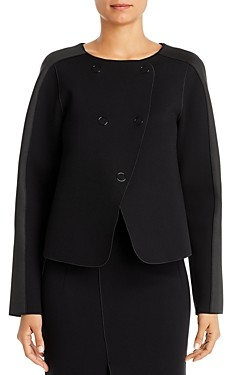 Giorgio Armani Emporio Contrast-Panel Boxy Jacket