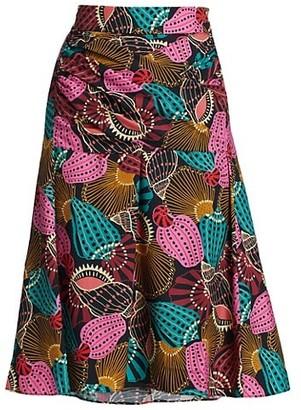 Farm Rio Shell Mix A-Line Skirt