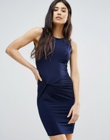 Girls On Film Dress With Ruched Front