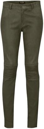 Flora Biker Stretch Pants In Vintage Grey