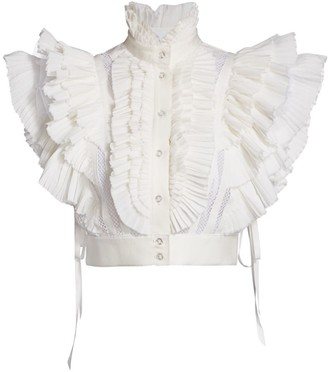 Unttld Victoria Pleated Ruffle Blouse