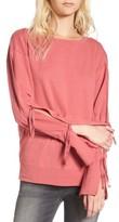 Hinge Women's Tie Sleeve Sweatshirt