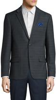Ben Sherman Men's Wool Checkered Notch Lapel Sportcoat