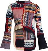 Alexander McQueen Patchwork wool-blend sweater