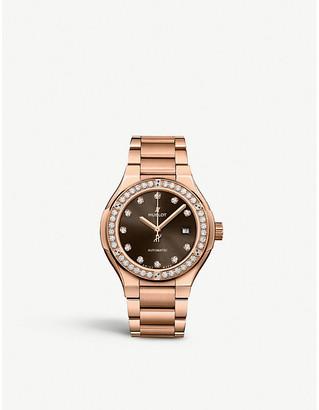 Hublot 585.OX.898M.OX.1204 Classic Fusion 18ct rose-gold and diamond watch