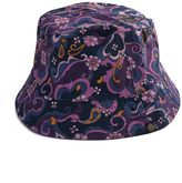 Pretty Green Floral Paisley Print Bucket Hat
