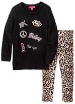 Betsey Johnson Pom Pom Sweater & Legging Set (Little Girls)