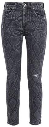 Rag & Bone Cate Snake-print Mid-rise Skinny Jeans