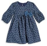 Laura Ashley Little Girl's Denim Shift Dress
