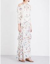 Vilshenko Annabelle Tiered Silk Dress