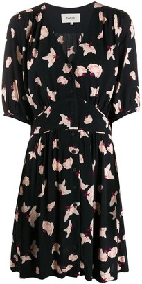 BA&SH Floral-Print V-Neck Dress