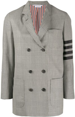 Thom Browne DB Sack Jacket In Engineered 4 Bar Pow Heavy Wool