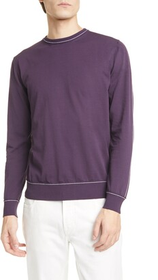 Eleventy Slim Fit Cotton Crewneck Sweater