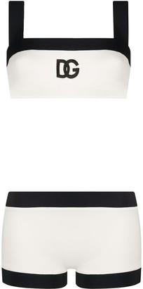 Dolce & Gabbana embroidery bikini set