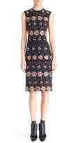 Givenchy Women's Floral Embroidered Sheath Dress