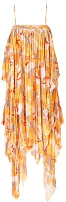 Acler Hooper abstract-print pleated dress