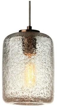 Viz Glass 1-Light Single Cylinder Pendant