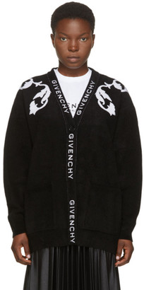 Givenchy Black Floral Jacquard Cardigan