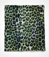 Express Leopard Oblong Scarf - Green