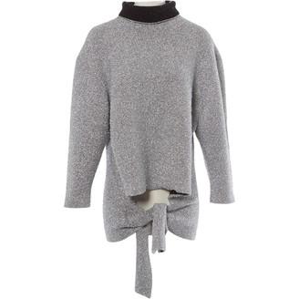 Balenciaga Silver Polyester Knitwear