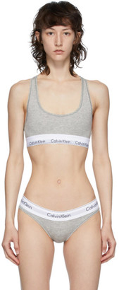 Calvin Klein Underwear Grey and White Modern Bralette