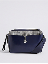 M&S Collection Faux Leather Stud Across Body Bag