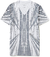 Armani Exchange Bridge Graphic Short-Sleeve V-Neck Tee