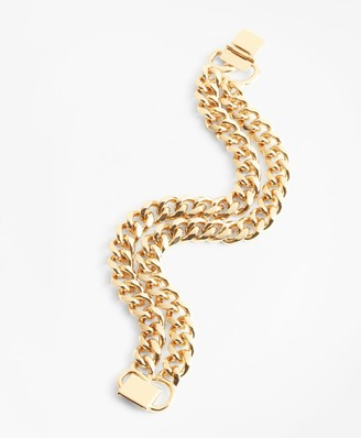 Brooks Brothers Gold-Plated Two-Strand Curb Chain Bracelet