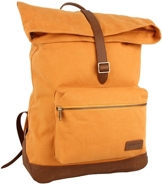 Obey Uptown Roll Top Backpack (Inca Gold) - Bags and Luggage