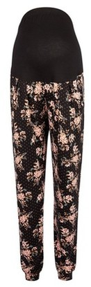 Dorothy Perkins Womens **Maternity Black Floral And Spot Print Joggers, Black