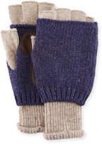 Ben Sherman Fingerless Knit Wool Gloves
