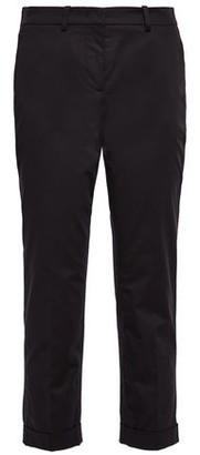 Love Moschino Cropped Stretch-cotton Poplin Slim-leg Pants