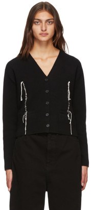 Maison Margiela Black Knit Cardigan