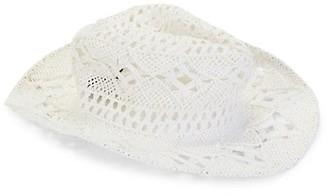 MARCUS ADLER Lace Panama Hat