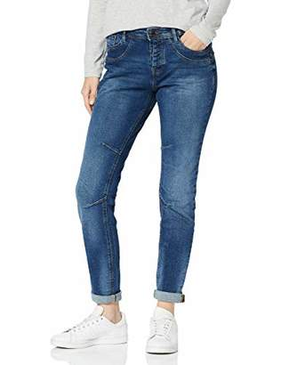 Tom Tailor Women's Lynn Boyfriend Jeans, (Moon Wash Mid Blue D 10149)