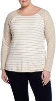 Tart Meagan Raglan-Sleeve Pullover Top, Oatmeal Stripe, Women's