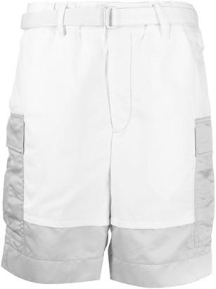 Sacai wide leg cargo shorts