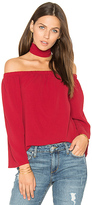 Reverse Sweep in Top in Red. - size L (also in M)