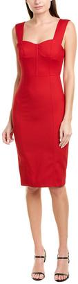 Pinko Twill Wool-Blend Sheath Dress