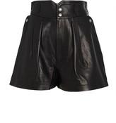 IRO Lydma High-Waist Leather Shorts