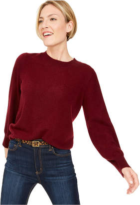 Charter Club Pure Cashmere Balloon-Sleeve Sweater, Regular & Petite Sizes