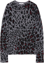 Equipment Sloane Leopard-print Cashmere Sweater - Dark gray