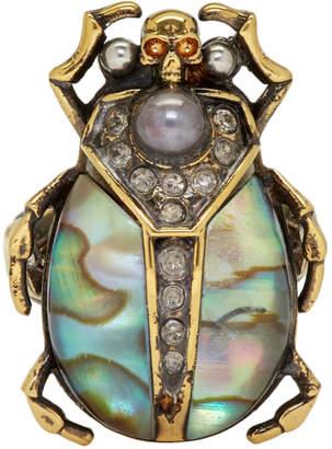 Alexander McQueen Gold Beetle Ring