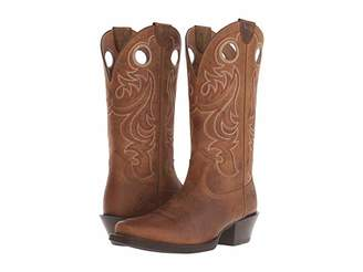 Ariat Sport Square Toe (Powder Brown) Cowboy Boots