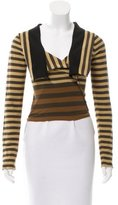 Sonia Rykiel Striped Crop Top