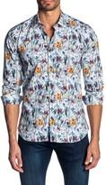 Jared Lang Slim Fit Floral Button-Up Shirt
