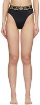Versace Underwear Black Medusa Bikini Bottoms
