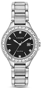 Citizen Crystal Eco-Drive Silver-Tone Watch, 31mm