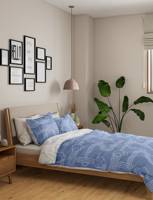 Marks and Spencer Cotton Mix Geometric Bedding Set