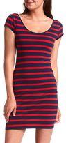 Striped Cotton Body-Con Dress